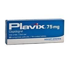 Plavix  Clopidogrel 75mg Sanofi 28 Tablets