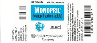 Monopril Fosinopril 10mg  BMS 40 Tablets