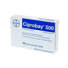 Ciprobay Ciprofloxacin 500mg 40 Tablets