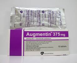 Amoxil (Amoxicillin) Augmentin 375mg 50Tablets