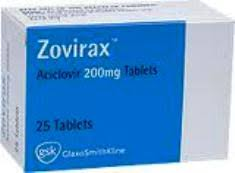 Zovirax Acyclovir 200mg  GSK 25 Tablets