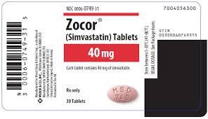 Zocor Simvastatin 40mg 35 Tablets