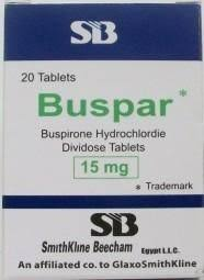 Buspar Buspirone 15mg  BMS 100Tablets