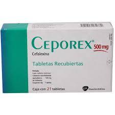 Ceporex Cephalexin 500mg  GSK 48 Tablets